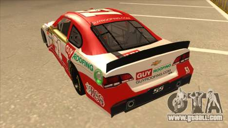 Chevrolet SS NASCAR No. 51 Guy Roofing for GTA San Andreas back view
