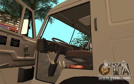 KAMAZ Lorries 53115 for GTA San Andreas back view