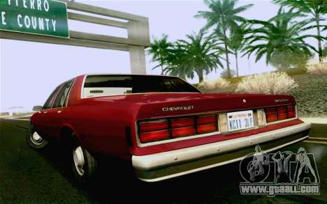 Chevrolet Caprice 1987 for GTA San Andreas back left view