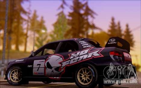 Subaru Impreza WRX STI WRC for GTA San Andreas upper view