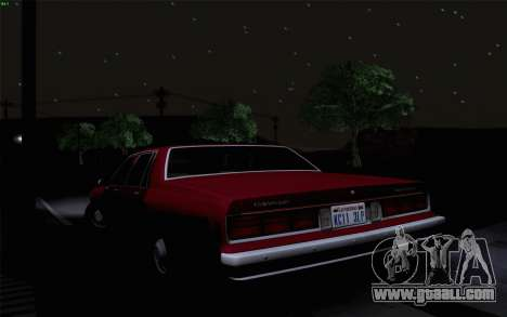 Chevrolet Caprice 1987 for GTA San Andreas upper view