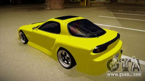 Mazda FD3S BN Sports for GTA San Andreas back view