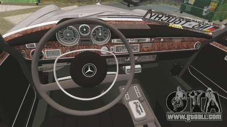 Mercedes-Benz 300 SEL 1971 for GTA 4 inner view