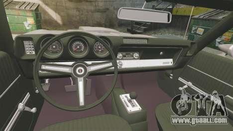 Oldsmobile Cutlass Hurst 442 1969 v1 for GTA 4 inner view