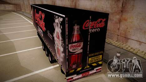 Sider Semi-trailer Coca-cola Zero for GTA San Andreas back left view