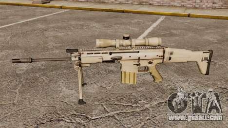 Automatic rifle Mk 17 SCAR-H for GTA 4 third screenshot