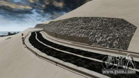 Snowy location Sakina for GTA 4 seventh screenshot