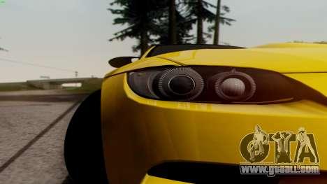 BMW M3 E92 Hamann for GTA San Andreas inner view