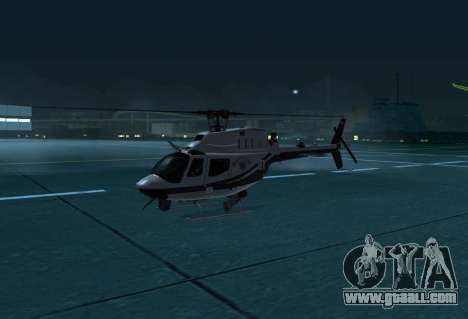 OH-58 Kiowa Police for GTA San Andreas left view