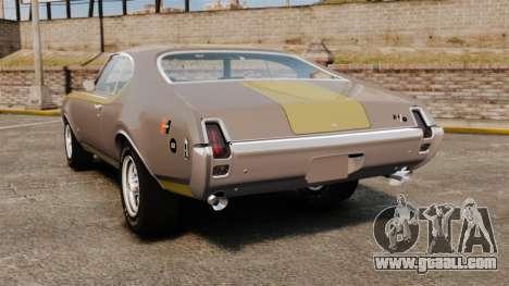 Oldsmobile Cutlass Hurst 442 1969 v1 for GTA 4 back left view