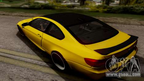 BMW M3 E92 Hamann for GTA San Andreas back left view