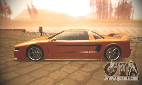 Infernus One for GTA San Andreas left view