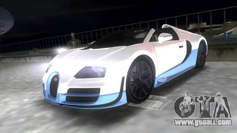 Bugatti Veyron Grand Sport Vitesse for GTA Vice City right view