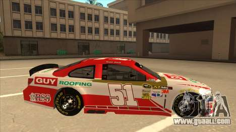 Chevrolet SS NASCAR No. 51 Guy Roofing for GTA San Andreas back left view