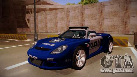 Porsche Carrera GT 2004 Police Blue for GTA San Andreas