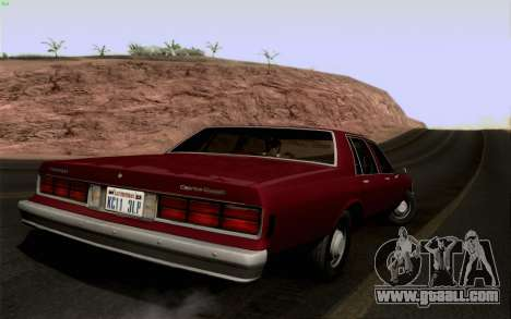 Chevrolet Caprice 1987 for GTA San Andreas right view