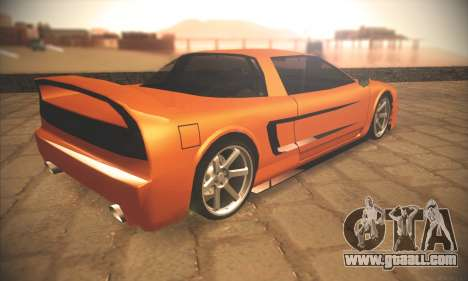 Infernus One for GTA San Andreas back view