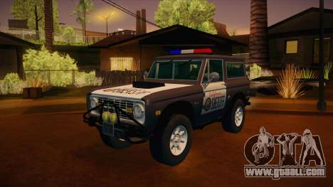 Ford Bronco 1966 Sheriff for GTA San Andreas