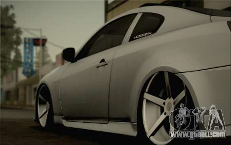 Infiniti G37 IPL for GTA San Andreas side view