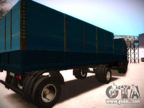 Trailer Kamaz 5320 for GTA San Andreas left view