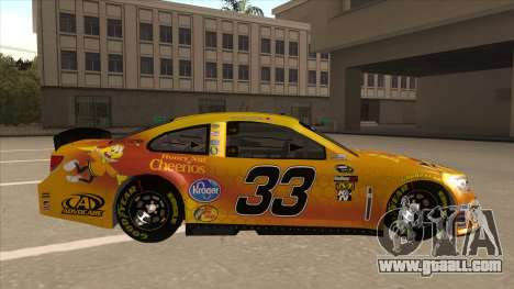 Chevrolet SS NASCAR No. 33 Cheerios for GTA San Andreas back left view