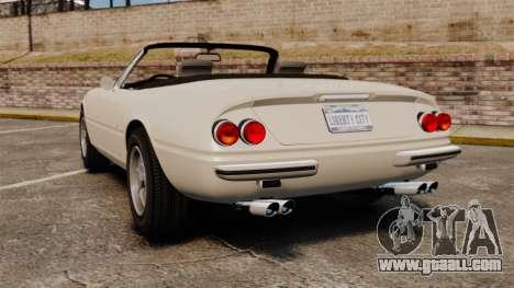 Ferrari Daytona Spider for GTA 4 back left view