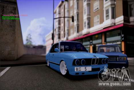 BMW 535I E28 for GTA San Andreas right view
