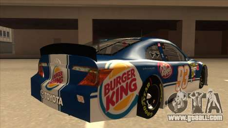 Toyota Camry NASCAR No. 93 Burger King Dr Pepper for GTA San Andreas right view