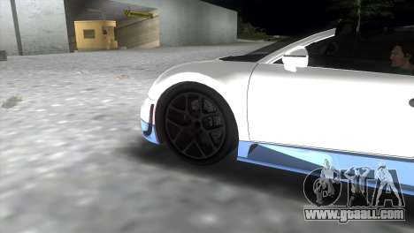 Bugatti Veyron Grand Sport Vitesse for GTA Vice City back left view