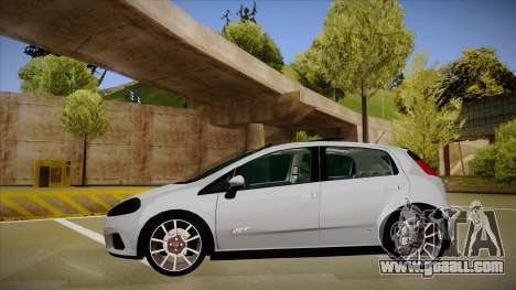 FIAT Punto T-Jet 2009 for GTA San Andreas back left view