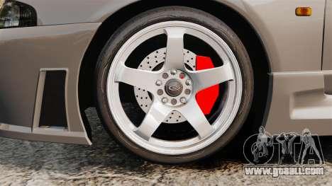 Nissan Skyline R33 NISMO 400R for GTA 4 back view