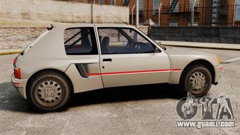 Peugeot 205 Turbo 16 for GTA 4 left view