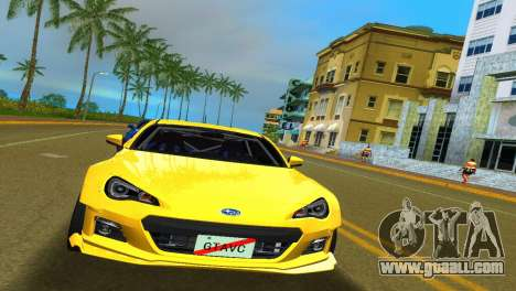 Subaru BRZ Type 5 for GTA Vice City left view