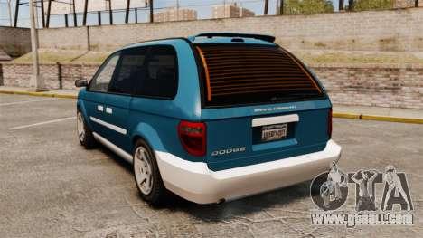 Dodge Grand Caravan 2005 for GTA 4 back left view