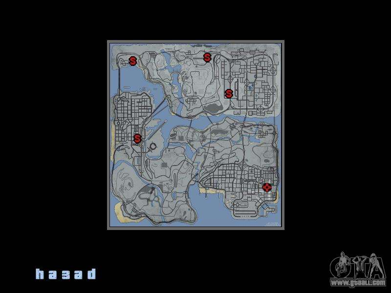 Map in the style of GTA 5 for GTA San Andreas