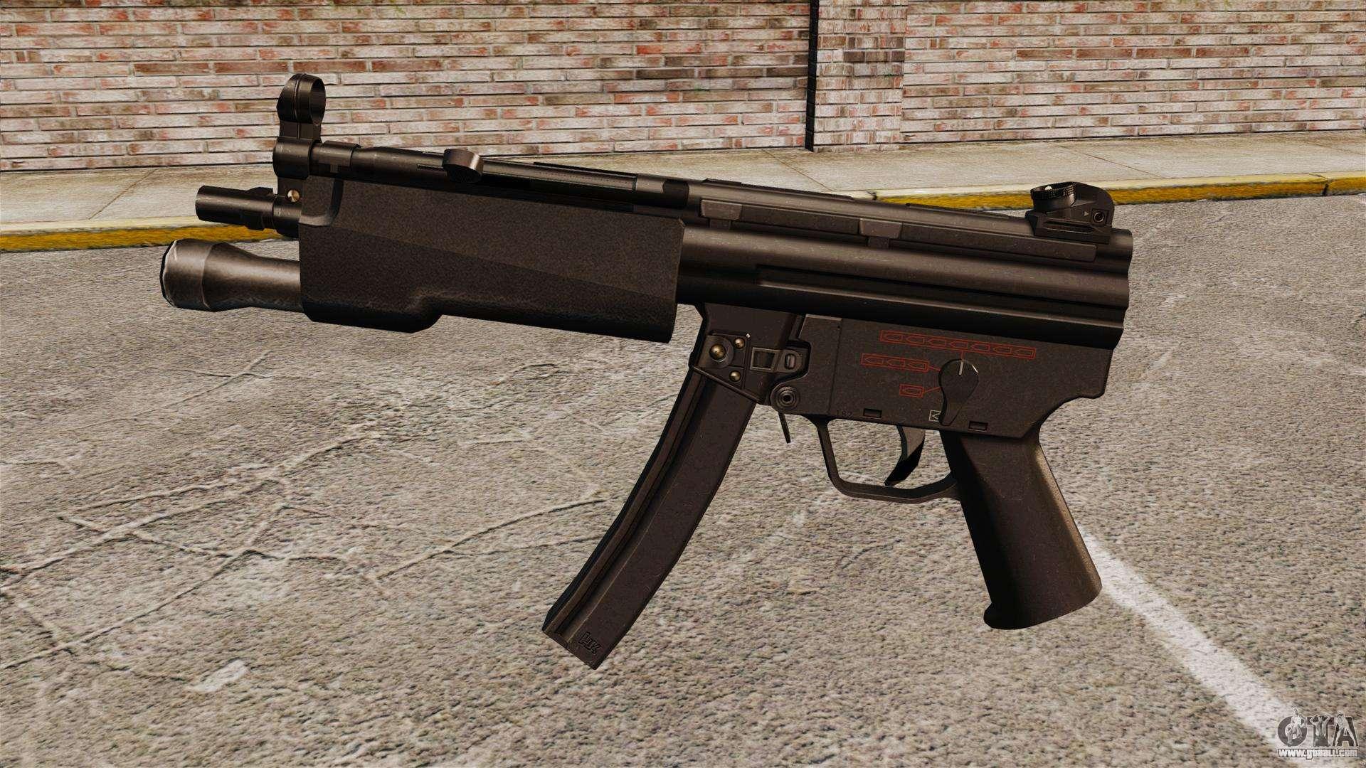 Hk mp5 submachine gun for gta 4 for Portent g3 sw 12