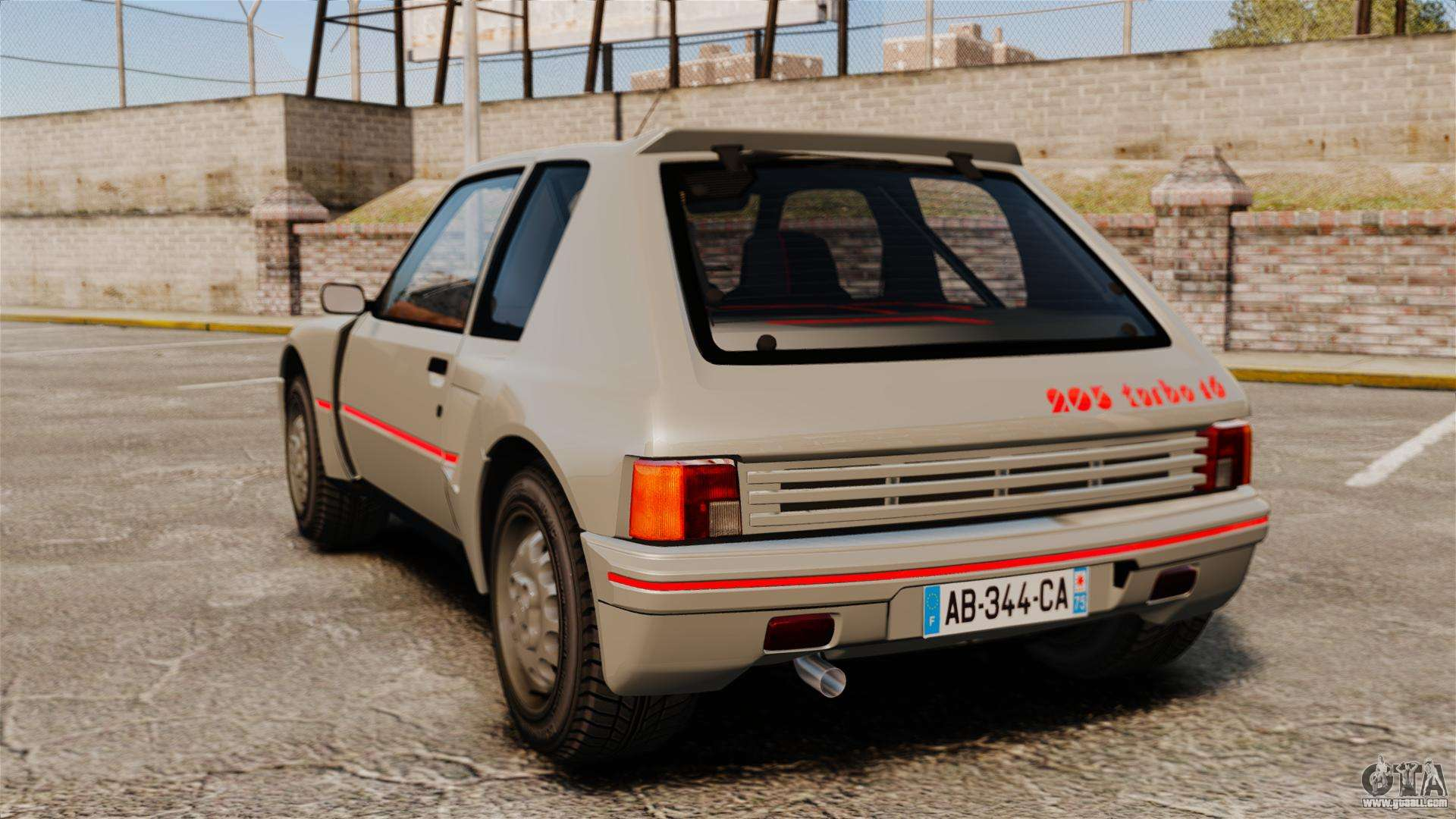 peugeot 205 turbo 16 for gta 4. Black Bedroom Furniture Sets. Home Design Ideas