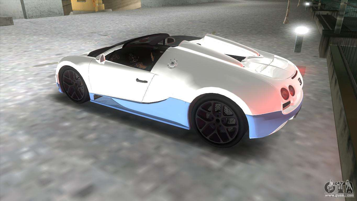 bugatti veyron grand sport vitesse for gta vice city. Black Bedroom Furniture Sets. Home Design Ideas
