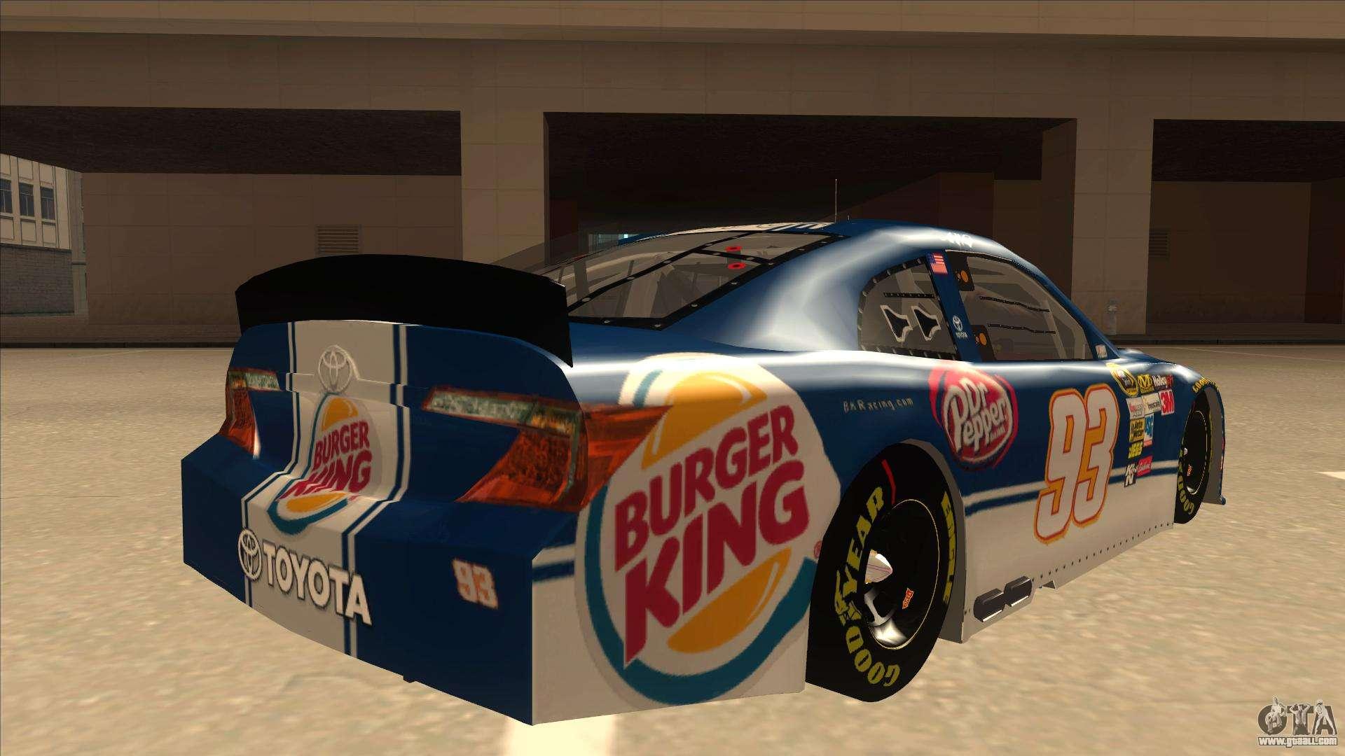 Toyota Camry NASCAR No. 93 Burger King Dr Pepper for GTA ...