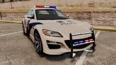 Mazda RX-8 R3 2011 Police купе for GTA 4
