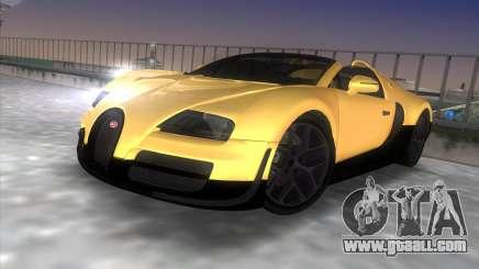 Bugatti Veyron Grand Sport Vitesse for GTA Vice City