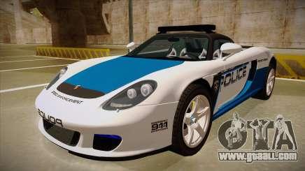 Porsche Carrera GT 2004 Police White for GTA San Andreas
