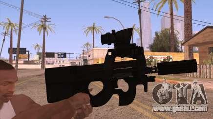 P90 AEG with flashlight for GTA San Andreas