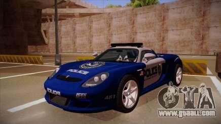 Porsche Carrera GT 2004 Police Blue for GTA San Andreas