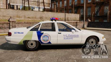 Chevrolet Caprice Police 1991 v2.0 N.o.o.s.e for GTA 4 left view