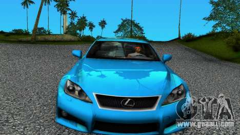 Lexus IS-F for GTA Vice City left view