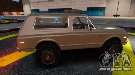 Chevrolet Blazer K5 1972 for GTA 4 interior