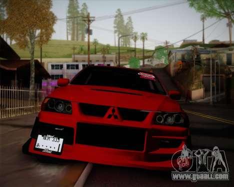 Mitsubishi Evolution VIII for GTA San Andreas