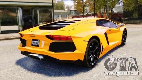 Lamborghini Aventador LP700-4 [EPM] 2012 for GTA 4 upper view