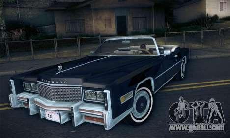 Cadillac Eldorado 1978 Convertible for GTA San Andreas